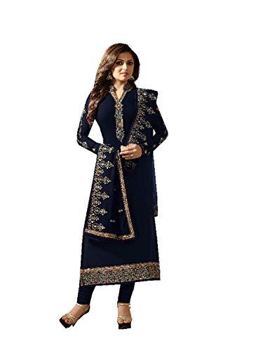 Fashionable Designer Straight Salwar Kameez LT Nitya 2201-2208 (Blue, XS-36) (Salwar Suit Blue)