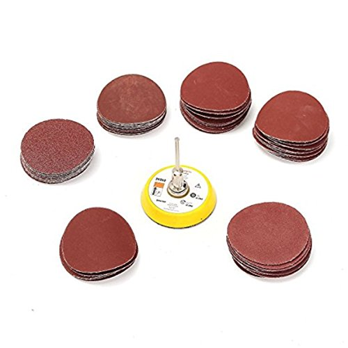 - Jeteven 60 Pcs 3 Inch 100-2000 Grit Sanding Discs Pad Kit with Shank Backing Pad Grit Sandpapers for Drill Grinder Rotary Tools