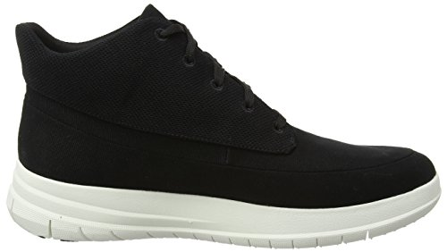 Schwarz FitFlop Pop Sporty Black Herren Sneaker High Canvas q71Ywq6