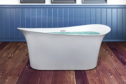 Akdy 69 inch soaking bathtub for Best soaker tub for the money
