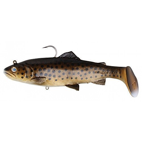 Savage Gear 3D Trout Rattle Shad 27.5cm 225g Golden Albino Rainbow by Savage ()