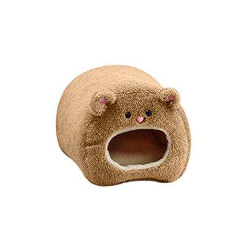 Tinksky Plush Hammock for Ferret Rabbit Rat Hamster Warm Hanging Bed BEAR Toy House Christmas Birthday Gift for Children (Plush Ferret)