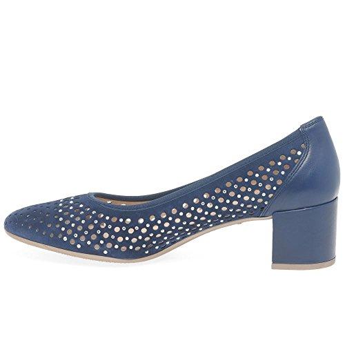 Creta Hispanitas Jeans Zapatos Mujeres Perforado 5 de Corte Un1dOwPqn