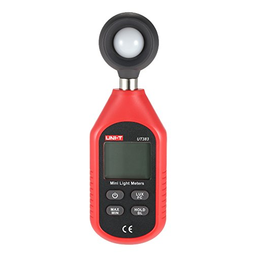 UNI-T UT383 LCD Display Handheld Mini Digital Luminometer Photometer Luxmeter Light Meter 0-199999 ()