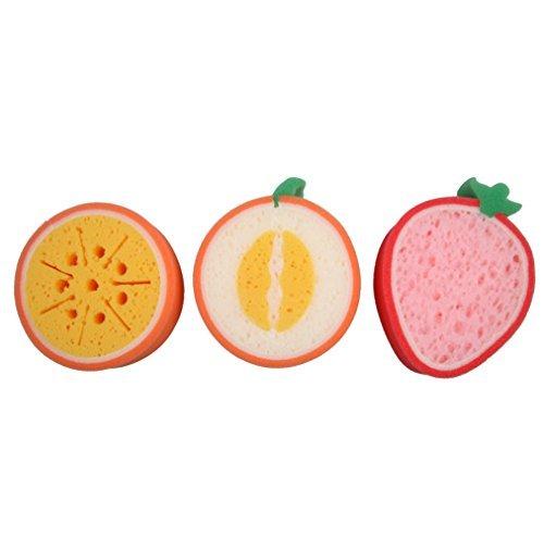 Greensun Tm  3Pcs Fruit Dish Washing Cleaning Cloth Gadget Sponge Scouring Kitchen Tool