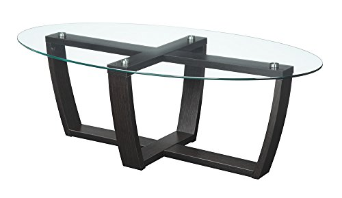 Convenience Concepts Newport Glass Top Coffee Table, Rich Espresso Review