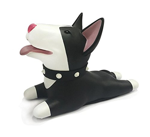 Cute Cat Dog Door Stopper Wedge Non-slip Non-scratching Baby Child Safety doorstop works on all floor surfaces (Black Dog 1)
