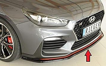 Rieger Frontal Alerón Espada Negro Brillante para Hyundai i30 N/i30 N de Performance (PDE): 07.17 de: Amazon.es: Coche y moto