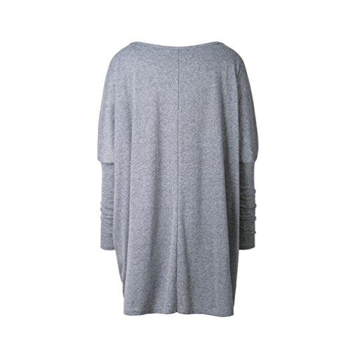 Il Rotondo Maniche Collo Lunghe Donna WanYang Autunnali Maglione Grigio A Sweatshirt Casuale E Moda Felpe ww0BqXP