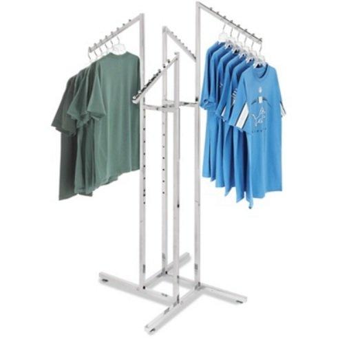 4 Way White Slant Arm Rack product image