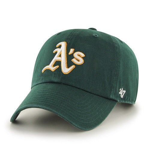 MLB Oakland Athletics '47 Clean Up Adjustable Hat, Dark Green, One - Oakland Green Athletics