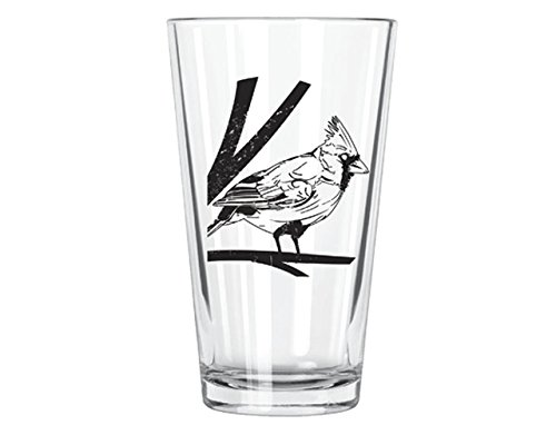 Corkology Northern Cardinal Pint Glass, Clear Cardinals Pint Glass