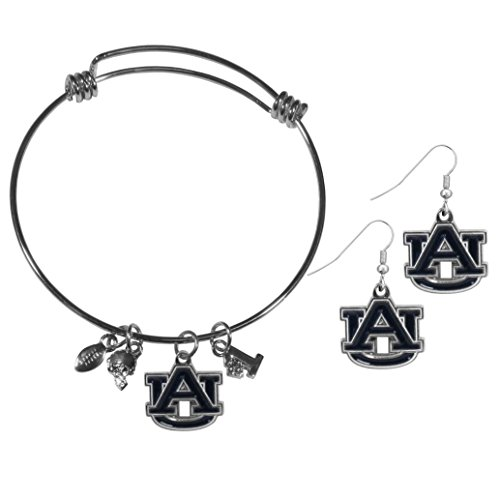 Siskiyou NCAA Auburn Tigers Dangle Earrings & Charm Bangle Bracelet Set