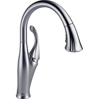 Delta Faucet 9158-SW-DST Fuse, Single Handle Pull-Down Kitchen ...