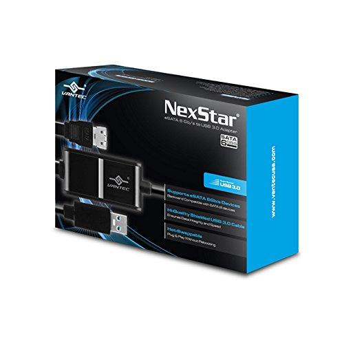 Vantec NexStar eSATA 6Gb/s to USB 3.0 Adapter (CB-ESATAU3-6) (Esata To Usb 3 Adapter)