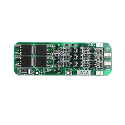 Price comparison product image Aluoflower 3S 20A Li-ion Lithium Battery 18650 Charger PCB BMS Protection Board 12.6VModule
