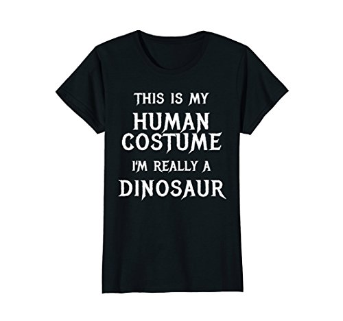 Womens Dinosaur Halloween Costume Shirt Easy Funny for Kids Adults Large (Easy A Costumes)