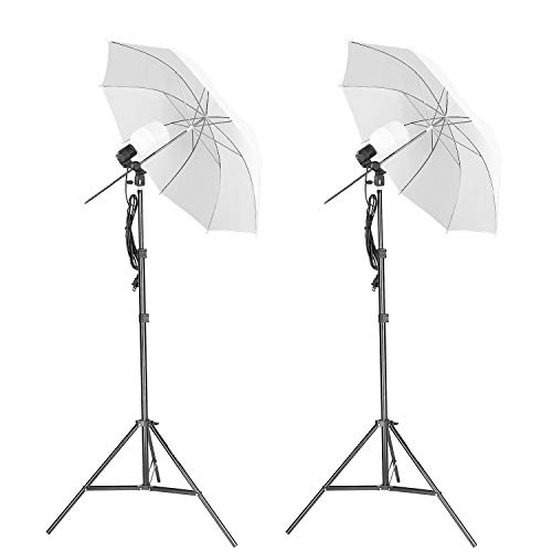 Studio Lighting Umbrella Light - Emart Photography Umbrella Lighting Kit,500W 5500K Continuous LED Camera Lights for Photo Portrait Studio Video Shooting Equipment