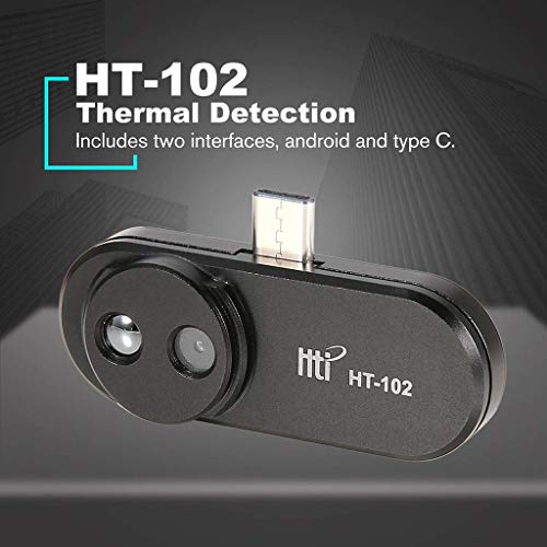 Lywey HT-102 Phone Thermal Detection Imager for Android Type C Thermal Imaging Temperature Detector Support Video Pictures Recording Face Imaging Camera for Samsung S9 S8 Note9
