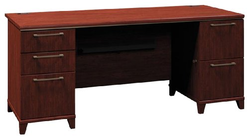 72 Bushes (Bush Double Pedestal Desk, 72-Inch by 28-1/2-Inch by 30-Inch, Harvest Cherry)