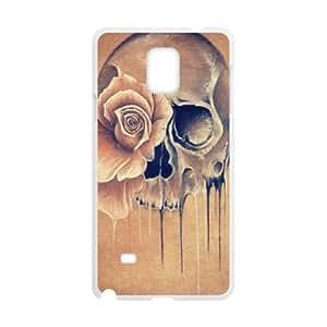 WJHSSB Skull Art 4 Phone Case For Samsung Galaxy note 4 [Pattern-2]