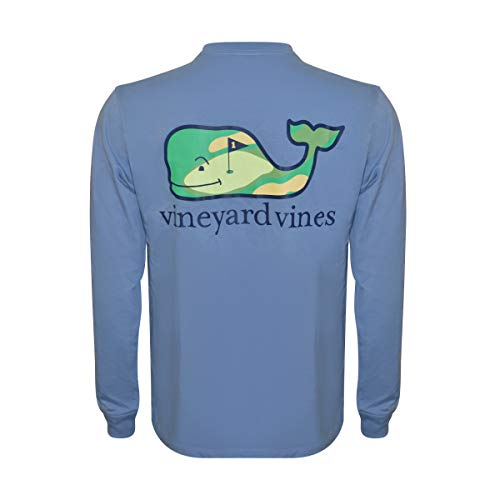 Vineyard Vines Men's Long-Sleeve Graphic Pocket T-Shirt (Golf Whale Skyfall, XX-Large)