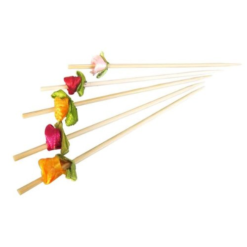 "PackNWood 210BBFLEUR ""Flower'' Bamboo Skewer (Assorted Colors) - 4.7'' - 2000 per case by PacknWood"
