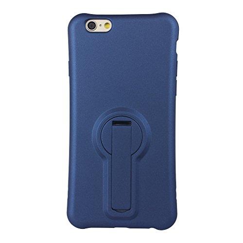 Funda iPhone 7 Silicona, Rosa Schleife Ultra delgado Cubierta de la caja del silicón de TPU Caso Carcasa cubrir con diseño de chapado de la contraportada Función de Soporte Funda de Móvil para el iPho Plating - Azul