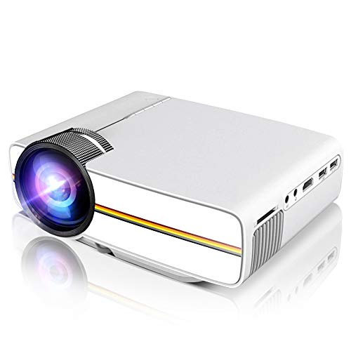 - Porjector,LoongSon Home theater Video Projector 1080P, LED LCD Mini Projector Portable Movie Projector Support HDMI, USB, SD Card, VGA, AV for Home Cinema, TV, Laptops, Game, Smartphone & iPad (White)