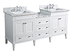 Kitchen Bath Collection KBCL72WTCARR Eleanor Bathroom Vanity with