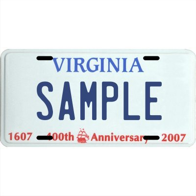Your Name Your State Custom Metal License Plate - Choose from all 50 States (Virginia, 6