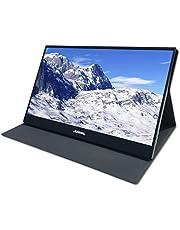 JOHNWILL 15.6 pollici tipo C monitor portatile, Display LCD/LED IPS Ultra HD 1920 x 1080, HDMI/Due tipo C (USB C) Interfaccia USB due,Monitor per giochi, Contenitore in metallo nero
