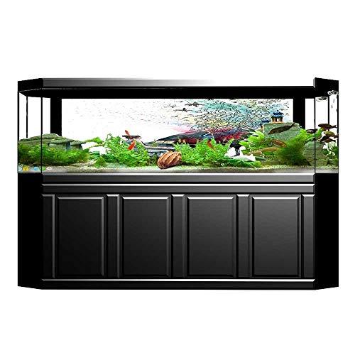 (UHOO2018 Fish Tank Background Collection Grand Piano Music Butterflies Ornamental Pianist Swirls Vintage Image Pattern T PVC Aquarium Decorative Paper 29.5