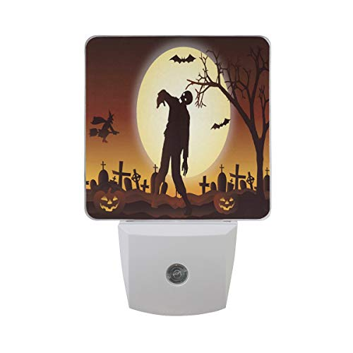 Night Light Halloween Graveyard Zombie Led Light Lamp for Hallway, Kitchen, Bathroom, Bedroom, Stairs, DaylightWhite, Bedroom, Compact]()
