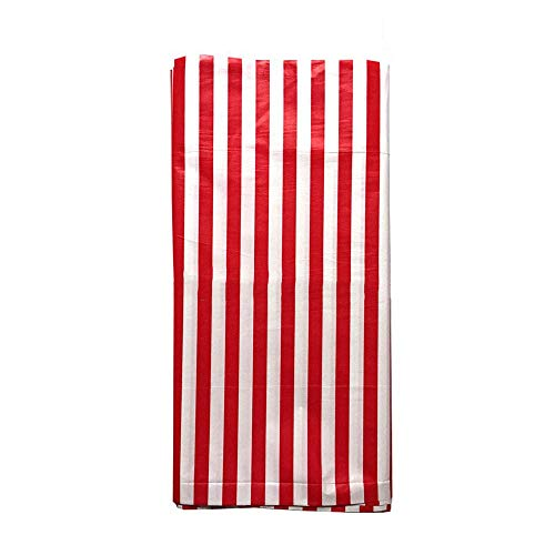 - JINSEY Pack of 3 Plastic Red White Stripe Print Tablecloths - 3 Pack - Party Picnic Table Covers