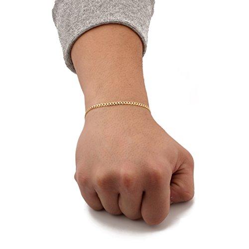 Tone Gold Two Bracelet 10k (LOVEBLING 10K Yellow Gold 3mm 7