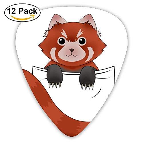 12-Pack Custom Guitar Picks Red Panda Assorted Various Thickness Plectrum for ()
