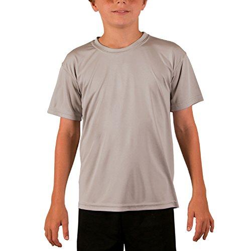 - Vapor Apparel Youth UPF 50+ UV Sun Protection Performance Short Sleeve T-Shirt Small Athetic Grey