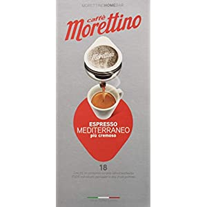 Caffè Morettino Cialde Espresso Mediterraneo Cremoso Tostatura Scura - 12 Confezioni da 18 Cialde Universali [216 Cialde…