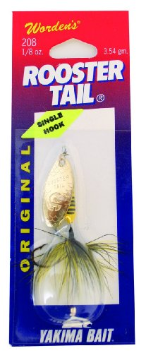 Wordens Single Hook Rooster Tail Lure, 1/8-Ounce, Bumblebee (Best Size Rooster Tail For Trout)