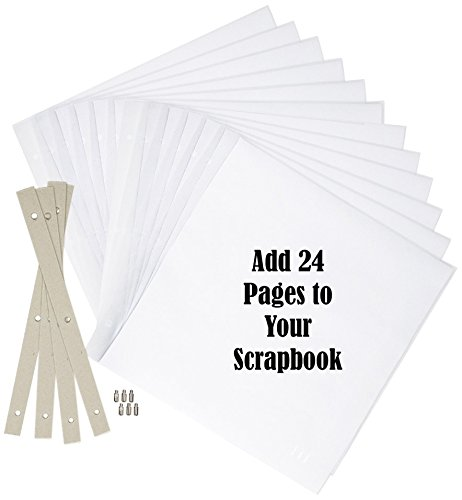 Most Durable Scrapbook Expansion Pages 12-Inch by 12-Inch, 12 Sheet Count, 24 Pages
