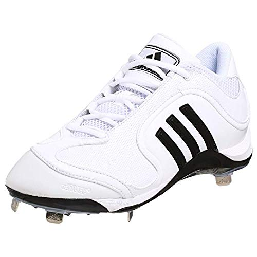 adidas Men's Excelsior 6 Mid Baseball Cleat,White/Black/Silver,11 M US