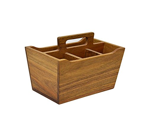 222 Fifth 5090BR632A1K87 Flare Flatware Caddy, Wood
