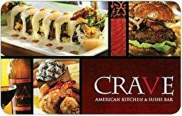 Crave American Kitchen & Sushi Bar Gift Card ($50)