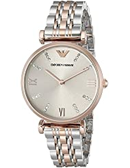 Emporio Armani Womens AR1840 Retro Two Tone Watch