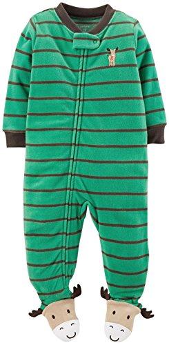 Carter's Striped Art Footie (Toddler/Kid) - Moose-5T (Striped Moose)
