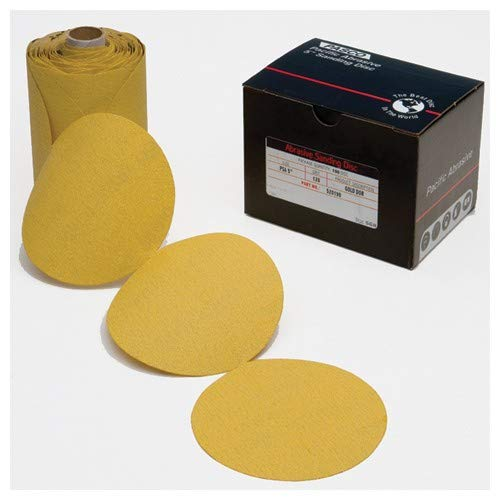 6''-220 Grit - C Weight - Gold - PSA Disc on Roll - DOR (Pack of 100)