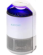 KATCHY Indoor Insect and Flying Bugs Trap Fruit Fly Gnat Mosquito Killer with UV Light Fan Sticky Glue Boards No Zapper White