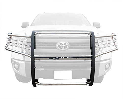 MaxMate Premium Custom Fits 07-15 Toyota Tundra, 08-15 Toyota Sequoia Stainless Steel Grille Bumper Brush Guard Bull Bar (with Mounting Bracket Hardware Kit)