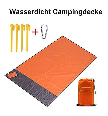 TFyoung Picnic–Manta 200x 210cm Playa Agua Densidad sandabweisende portátil camingm Medir Matte con 4Postes, Naranja